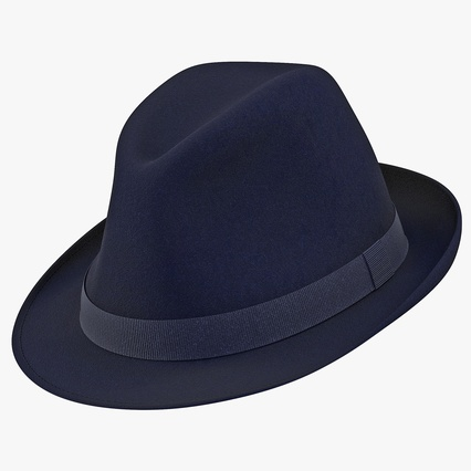 Fedora Hat Blue. Render 1