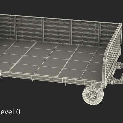 Airport Luggage Trolley Rigged. Render 21