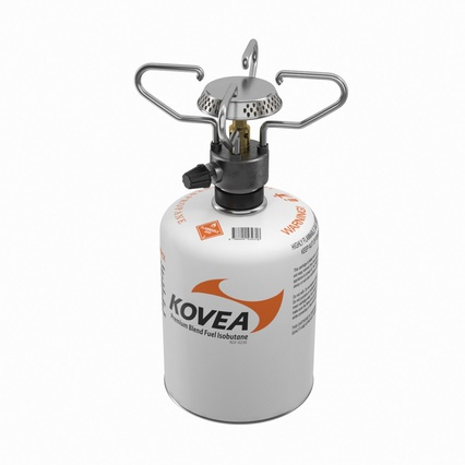 Gas Cylinder with Camping Stove Kovea. Render 3