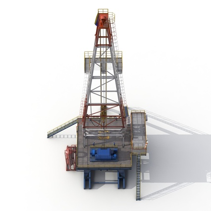 Fracking Gas Platform. Render 16