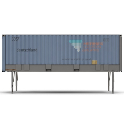 Swap Body Container ISO Blue. Render 11