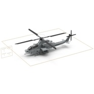 Attack Helicopter Bell AH 1Z Viper Rigged. Preview 81