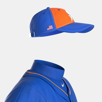 Baseball Player Outfit Mets 2. Render 29