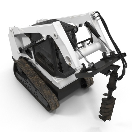 Compact Tracked Loader with Auger. Render 13