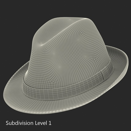 Fedora Hat Blue. Render 21