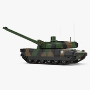 AMX 56 Leclerc French Main Battle Tank Rigged