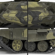 T72 Main Battle Tank Camo Rigged. Preview 14
