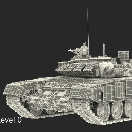 T72 Main Battle Tank Camo Rigged. Render 17