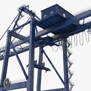 Container Crane Blue. Preview 13
