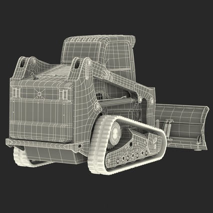 Compact Tracked Loader Bobcat With Blade Rigged. Render 51