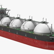 Gas Carrier Ship. Preview 2
