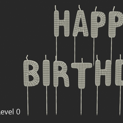 Happy Birthday Candles. Render 9