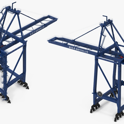 Container Crane Blue. Render 12