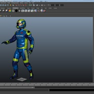 Motorcycle Rider Rigged for Maya. Preview 47