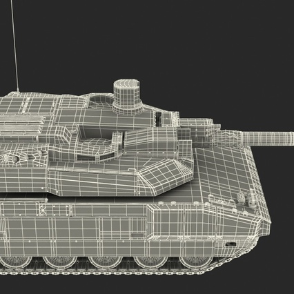 French Army Tank AMX-56 Leclerc Rigged. Render 28
