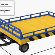 Airport Transport Trailer Low Bed Platform Rigged. Preview 4