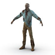 Zombie Rigged for Cinema 4D. Preview 2
