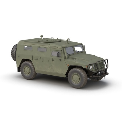 Russian Mobility Vehicle GAZ Tigr M Rigged. Render 3