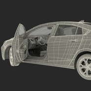 Generic Hybrid Car Rigged. Preview 103