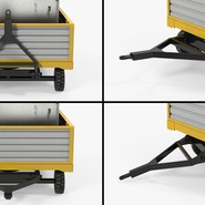 Airport Luggage Trolley with Container Rigged. Preview 20