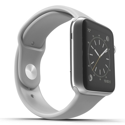 Apple Watch Sport Band White Fluoroelastomer 2. Render 17