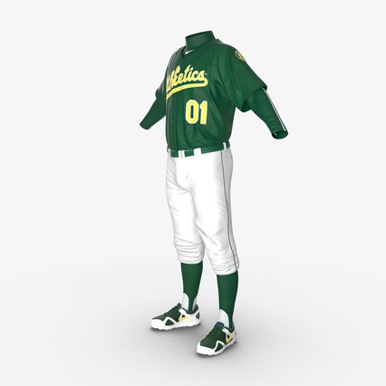 Baseball Player Outfit Athletics 3. Render 9