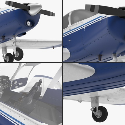 Piper PA-28-161 Cherokee Rigged. Render 20