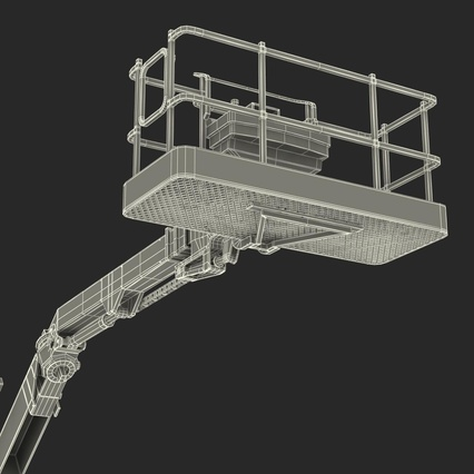 Telescopic Boom Lift Generic 4 Pose 2. Render 103