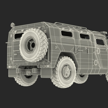 Russian Mobility Vehicle GAZ Tigr M Rigged. Render 84