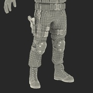 SWAT Man Mediterranean Rigged for Cinema 4D. Preview 58