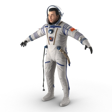 Russian Astronaut Wearing Space Suit Sokol KV2 Rigged for Maya. Render 16