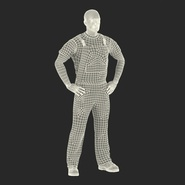 Construction Worker Black Uniform Standing Pose. Preview 4