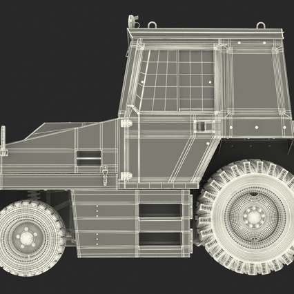 Push Back Tractor Hallam HE50 Rigged. Render 27