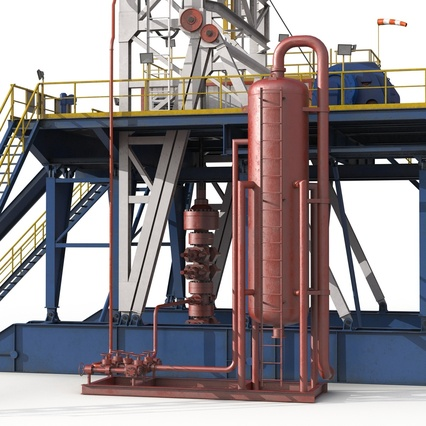 Fracking Gas Platform. Render 21