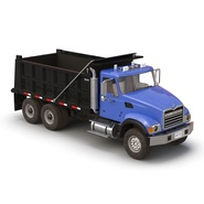 Dump Truck Mack Rigged. Preview 17