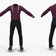 Male Figure Skater Costume. Preview 5