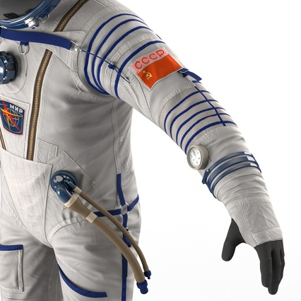 Russian Space Suit Sokol KV2 Rigged. Render 43