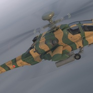 AH-64D Apache Longbow Japan Rigged. Preview 8