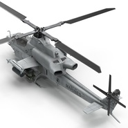 Attack Helicopter Bell AH 1Z Viper Rigged. Preview 38
