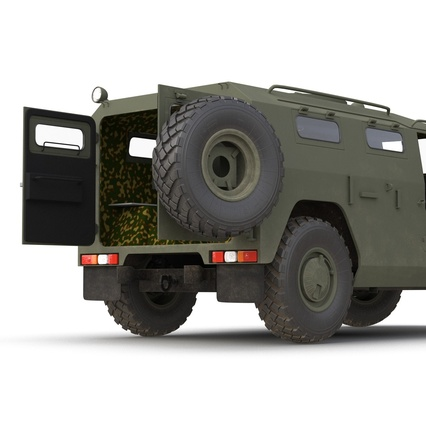 Russian Mobility Vehicle GAZ Tigr M Rigged. Render 34