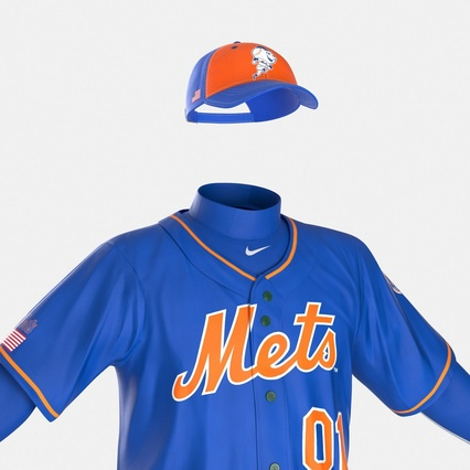Baseball Player Outfit Mets 2. Render 23