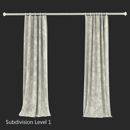 Curtains Collection. Render 63