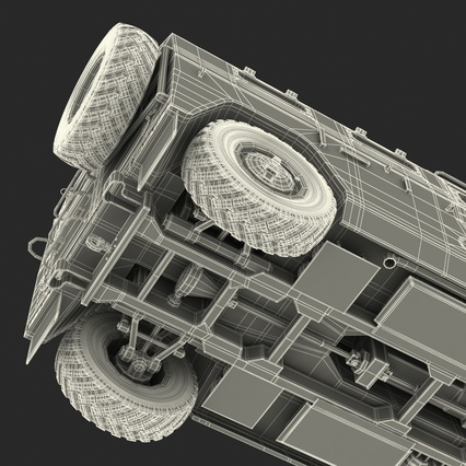 Russian Mobility Vehicle GAZ Tigr M Rigged. Render 86