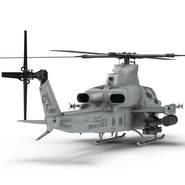 Attack Helicopter Bell AH 1Z Viper Rigged. Preview 34