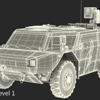 Fennek German Reconnaissance Vehicle Rigged. Render 30