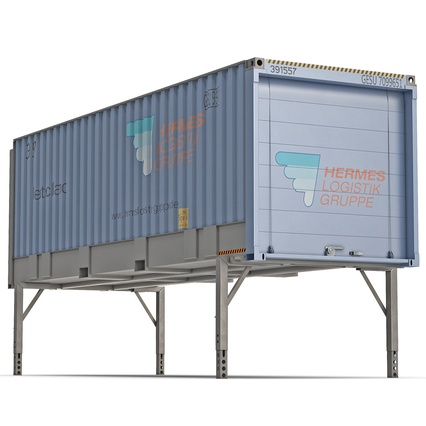 Swap Body Container ISO Blue. Render 2