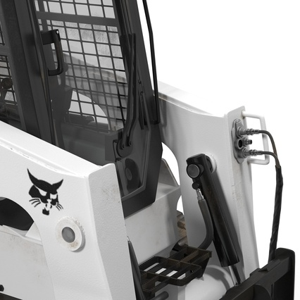 Compact Tracked Loader Bobcat With Blade Rigged. Render 32