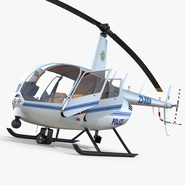 Police Helicopter Robinson R44 Rigged