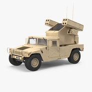 HMMWV M998 Equipped with Avenger Desert