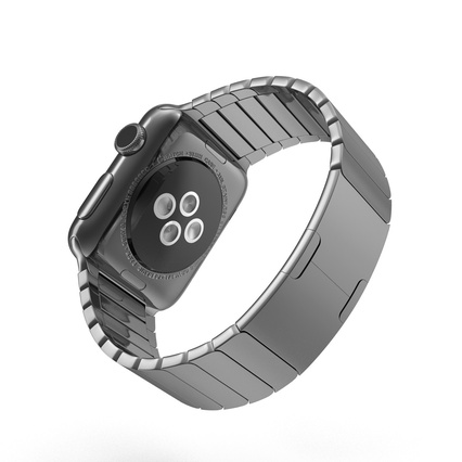 Apple Watch 38mm Link Bracelet Dark Space 2. Render 7